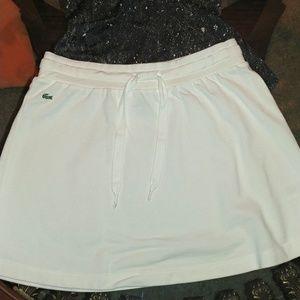 Lacoste white drawstring skirt/36